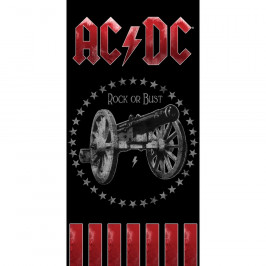 CARBOTEX Osuška AC/DC Rock or Bust, 70 x 140 cm