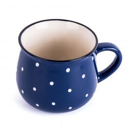Keramický hrnček Dots 230 ml, modrá