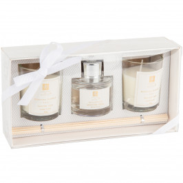 Sada sviečok a difuzéra Aroma di Rogito White tea, 3 ks