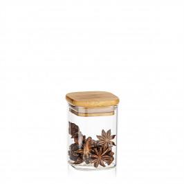 4Home Sklenená dóza na potraviny s viečkom Bamboo, 170 ml