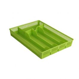 Altom Plastový príborník dierovaný 31 x 23 x 4,5 cm, zelená