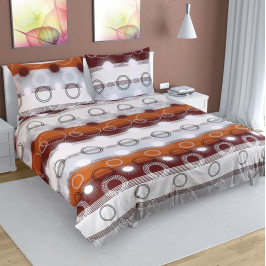 Bellatex Bavlnené obliečky Lúče hnedá, 240 x 200 cm, 2 ks 70 x 90 cm