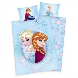 Detské flanelové obliečky Ľadové kráľovstvo Frozen Anna a Elsa, 100x135 40x60 cm