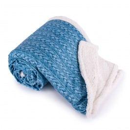 Baránková deka Maglia modrá, 150 x 200 cm