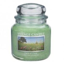 Village Candle Vonná svíčka ve skle, Zelená louka - Fields of Clover, 397 g, 397 g