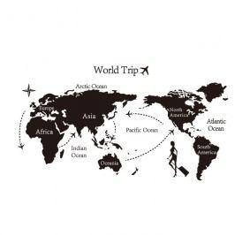 Samolepiaca dekorácia World trip mapa sveta