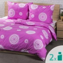 2 sady obliečok Tango ružová, 140 x 200 cm, 70 x 90 cm