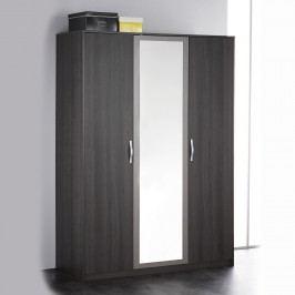 Skriňa 3-dverová GRAPHIC tmavý dub/sivá