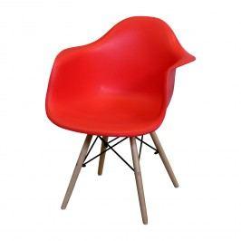 Jedálenská stolička DUO červená