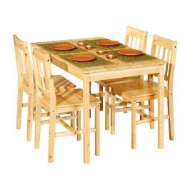 Jedálenský stôl 8848 + 4 stoličky CAROLINO