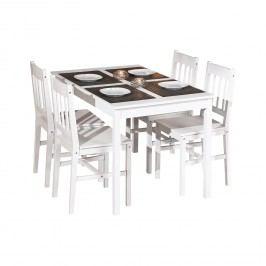 Jedálenský stôl PALE + 4 stoličky PALMIRO