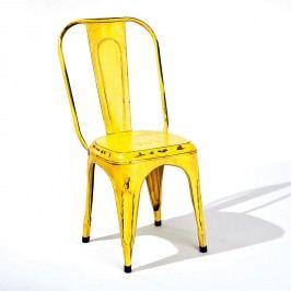 Stolička AIX retro žltá