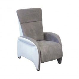 Relaxačné polohovacie kreslo ROXANA sivá/biela K140
