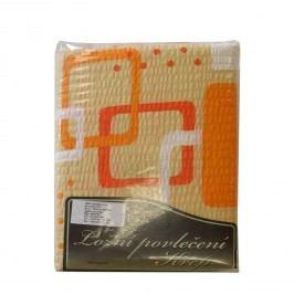 Obliečky krep oranžové kocky