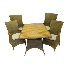 RIMINI set - stůl + 4 křesla