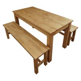 Stôl 140x70 + 2 lavice CORONA 2 vosk