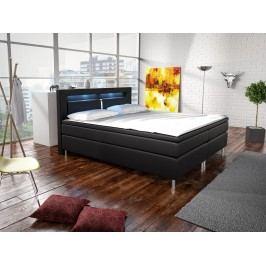 Manželská posteľ Boxspring 160 cm Marilia I (čierna) (s matracmi)