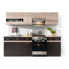 Kuchyňa BRW Junona line 240 cm Wenge a Dub Sonoma