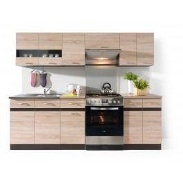 Kuchyňa BRW Junona line 240 cm Wenge a Dub Sonoma svetlá