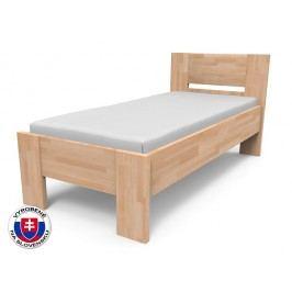 Jednolôžková posteľ 90 cm Nikoleta plné čelo (masív)