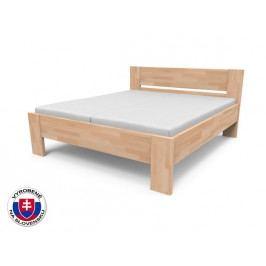 Manželská posteľ 180 cm Nikoleta plné čelo (masív)