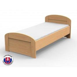 Jednolôžková posteľ 100 cm Petra oblé čelo pri nohách (masív)