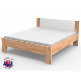 Manželská posteľ 210x180 cm Nikoleta čalúnené čelo (masív)