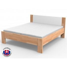 Manželská posteľ 220x160 cm Nikoleta čalúnené čelo (masív)