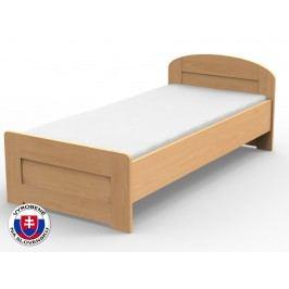 Jednolôžková posteľ 210x100 cm Petra rovné čelo pri nohách (masív)
