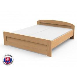 Manželská posteľ 220x180 cm Petra rovné čelo pri nohách (masív)