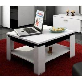 Konferenčný stolík Alfa (Biela + Lesk čierny)
