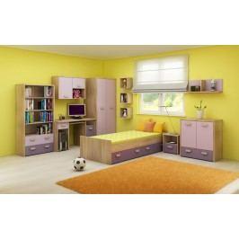 Detská izba Kitty 2 Sonoma svetlá + fialová
