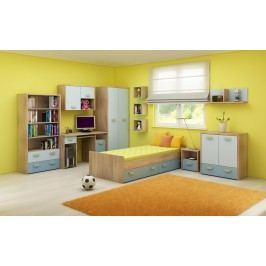 Detská izba Kitty 2 Sonoma svetlá + modrá