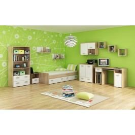Študentská izba Kitty 3 Sonoma svetlá + biela