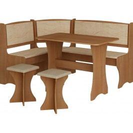Jedálenský set jelša (s taburetkami) (pre 5 osôb)