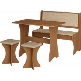 Jedálenský set monaco (s taburetkami) (pre 4 osoby)