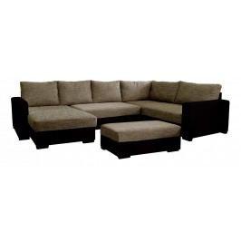 Rohová sedačka U Samanta L+2+BL 1 (L) (s taburetkou)