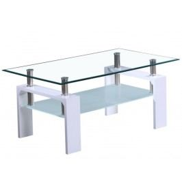 Konferenčný stolík Libor NEW (extra vysoký lesk biely)