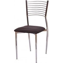 Jedálenská stolička Zaira TC-366 tmavohnedá