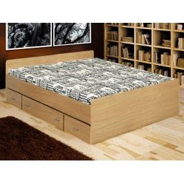 Manželská posteľ 160 cm Duet buk