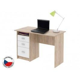 PC stolík Samson Dub sonoma + Bílá