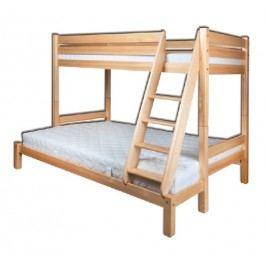 Poschodová posteľ 90 a 140 cm LK 155 (masív)