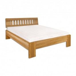 Manželská posteľ 160 cm LK 293 (dub) (masív)