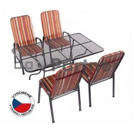 Záhradný nábytok Sandra 1+4 U508 (kov)