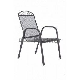 Záhradná stolička Grey čierna (kov)
