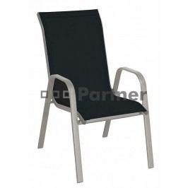 Záhradná stolička Gloria čierna (kov)