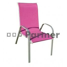 Záhradná stolička Gloria vínová (kov)