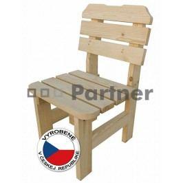 Záhradná stolička Borovica masív 01