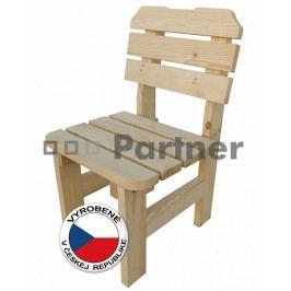 Záhradná stolička Borovica masív 02