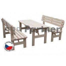 Záhradný nábytok Borovica masív 1+2 02
